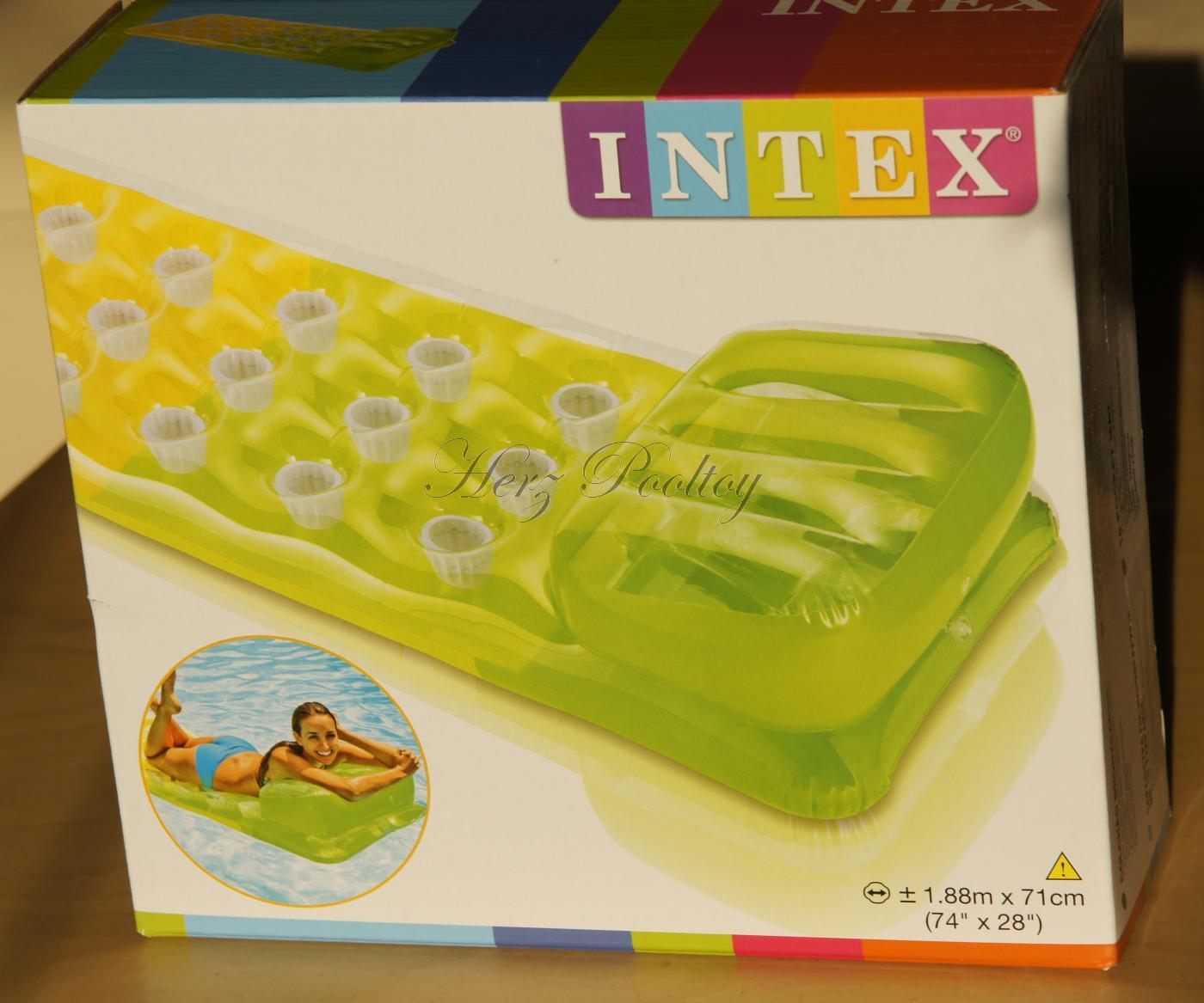 Aufblasbare Luftmatratze INTEX Pocket Lounge Grün ~188×72 cm – Herz ...